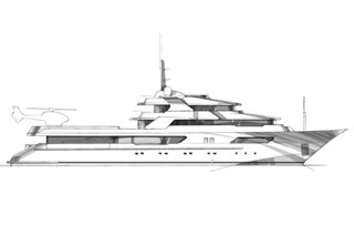 yacht styling sketch
